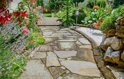 Schöner Gartenbereich