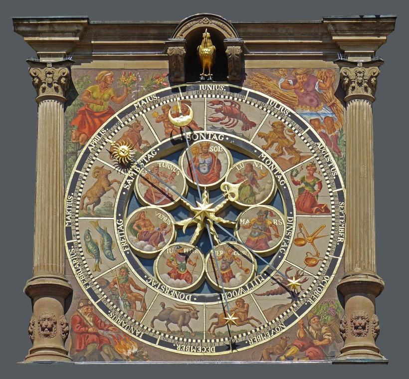 Wie die Zeit vergeht. Kalender am Rathaus Heilbronn